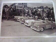1956 FORD THUNDERBIRD GO KARTS TOY CARS RACE IN 56  11 X 17  PHOTO /  PICTURE
