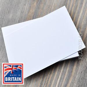 A5 Prestige Wedding Invite Flat Cards - Premium Thick White 400gsm Stock