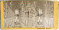 Cattedrale Da Reims Interno Foto Stereo Vintage Albumina c1875
