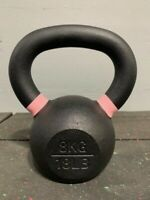 Premier Cast Iron Kettlebell  8KG 17LB Weight Workout Home Gym Crossfit