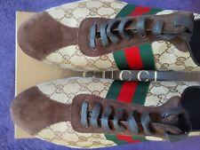 Gucci Men's Shoe 117711 GG/Suede/Nylon Beige Size Mens 13G