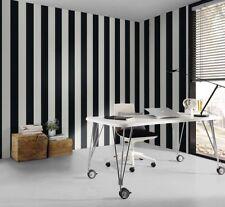 Black & White Striped Wallpaper (the stripes are 13cm wide)