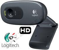 Logitech C270 HD 720p 3MP WebCam USB 2.0 Clip-On Video Calling Calls 1280x720 PC