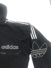 Adidas Classic Trefoil Vintage 90s Puffer Hoodie Jacket sz L Quilted Coat Black