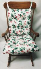 3 pc Rocking Chair or Glider Cushion Set Over Sized Waverly Floral Indoor Patio
