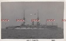 "Original Photograph Royal Navy. HMS ""Majestic"" Battleship. Sunk by sub WWI. 1903"