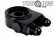 Torques Thermostatic Oil Sandwich Plate Kit Black (10AN AN-10) 3/4 UNF/ M20x1.5