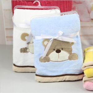 Baby Soft Blanket Infant Crib Bedding Cartoon Blanket Newborn Gift 8C