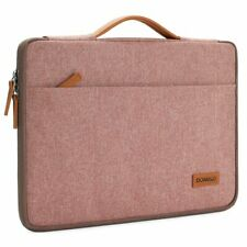 DOMISO 13 Inch Laptop Pink Sleeve Canvas Notebook Portable Carrying Bag Case