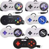 1x / 2x Wired Super SNES USB Controller Gamepad Joypad For PC Mac Raspberry Pi