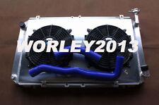 Aluminum radiator + shroud + hose +fan for GQ PATROL Y60 4.2L Petrol TB42S TB42E