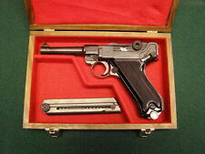 PISTOL GUN PRESENTATION CASE WOOD BOX GERMAN LUGER PO8 MAUSER DWM PARABELLUM