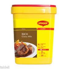 RICH GRAVY MIX 2KG BY MAGGI - LONG EXPIRY DATE DEC 2018 (SECURELY PACKED)