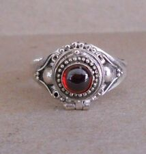 Cremation Ring Sz 6-Last One Handmade Sterling Silver Garnet Poison or