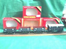 HORNBY RAKE OF G.W.R. WAGONS WITH RAILS X 3 AND SALTNEY BRAKE VAN N.M.I.BOXES.