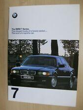 BMW 7 Series 740i 740iL 750IL prestige Prospekt brochure English 48pages 1998 US