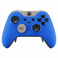 "BLUE ""SOFT TOUCH"" XBOX ONE ELITE CUSTOM CONTROLLER / UN-MODDED / FAST SHIP!"
