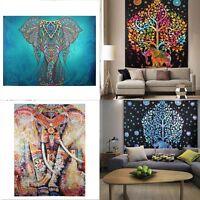 210*150 CM Indian Mandala Tapestry Hippie Wall Hanging Elephant Bedspread Throw