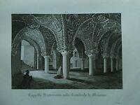 1845 Zuccagni-Orlandini Cappella Sotterranea nella Cattedrale di Messina