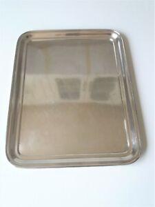 """"""" CHRISTOFLE """" plateau de service Metal argenté 40 x 32 cm ( 2 )"""