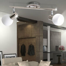 Glas Kugel Decken Lampe Arbeits Zimmer Strahler Leuchte silber Spots drehbar