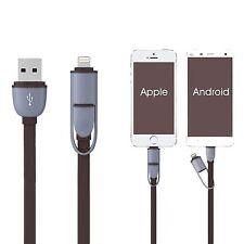 2 en 1 Micro USB Sync Données Charge Câble Pour Iphone 5/C/S/6 Android HTC
