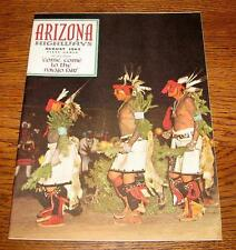 Arizona Highways Magazine – August, 1962, Navajo Fair, Charlie Spencer Steamboat