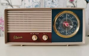 1950s 1960s Mid century Vintage Marconi T90DA Valve Radio Serviced