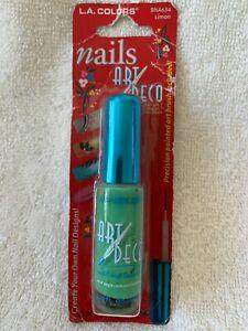 L.A. COLORS***Nails ART DECO***LIMON #BNA634~~~0.25 fl oz/7.5 ml~~~NEW~~~SEALED