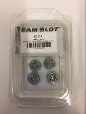 Team Slot E0114 Minilite Front Wheel Inserts Chrome Painted x 4