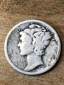 1919 Mercury Dime VG