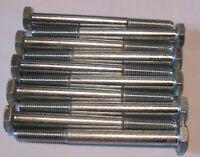 M7 X 40 HEX Set Vite Bullone placcato zinco-Qtà 4
