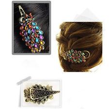 Barrette Hollow Peacock Hairpin Retro Rhinestones Crystal Fashion Hair Clip