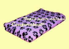 Tapis Confortbed Vetbed Dry anti-dérapant mauve pattes noires 100x150 cm 26 mm