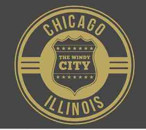 City of Chicago Badge 901 - Vinyl Sticker / Decal or Stencil - Made to Order