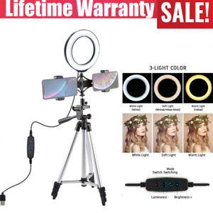 "6.2"" Selfie Desktop LED Ring Light with stand phone holder for Live vedio Makeup"