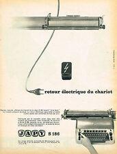 PUBLICITE ADVERTISING 035 1960  JAPY  machine à écrire éléctrique retour chariot