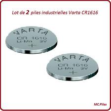 2 batteries buttons CR1616 lithium Varta Industrielle