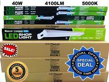 2x 4Ft 40W 5000k LED GARAGE WORK SHOP LIGHT FIXTURE HANGING UTILITY 2pc LOT