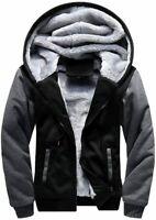 LBL ASALI Men's Pullover Winter Jackets Hooed Fleece, Black Gray, Size Medium nd
