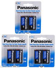 6PK Panasonic 9 Volts (9V) Battery Batteries Super Heavy Duty Zinc Carbon