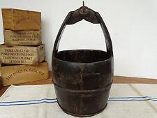 P6246 Alter Holzeimer ~ Wassereimer ~ Eimer aus Holz um 1930 Brunneneimer