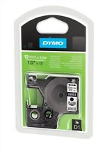 DYMO D1 (12mm) Nylon flexible cinta ( Negro sobre blanco)
