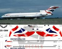 V1 Decals Boeing 727-200 British Airways for 1/144 Airfix Model Airplane Kit