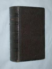 Holy Bible Old & New Testaments Oxford University Full Leather c 1885 32mo