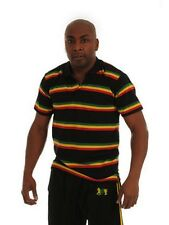 Rasta Leone di Giuda Polo-Shirt-Nero-M - GRATIS UK P & P!
