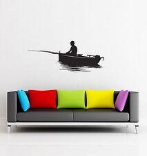 Wall Stickers Fishing  Fish Relaxing for Garage z1278