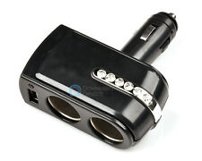 USB Port 12V/24V Car Charger 1to2 Cigarette Lighter Socket Adaptor Splitter AUTO