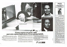 PUBLICITE  1972   RAN XEROX   copieur-duplicateur ( 2 pages)