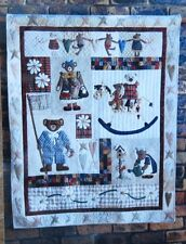 Lynette Anderson Patchwork Angel ALL MY BEARS 1-8 Quilt Block Patterns + Fabric